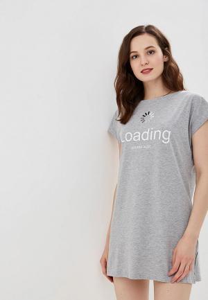 Сорочка ночная Modis. Цвет: серый