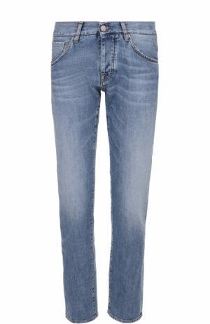 Джинсы прямого кроя с контрастной прострочкой 2 Men Jeans. Цвет: голубой