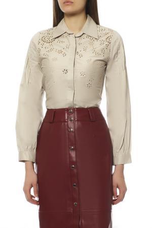 Блуза EXETERA. Цвет: бежевый
