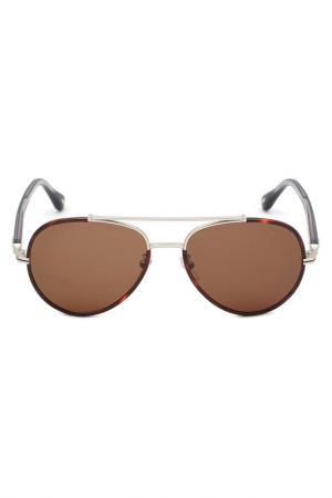 Солнцезащитные очки DUNHILL. Цвет: серебряный