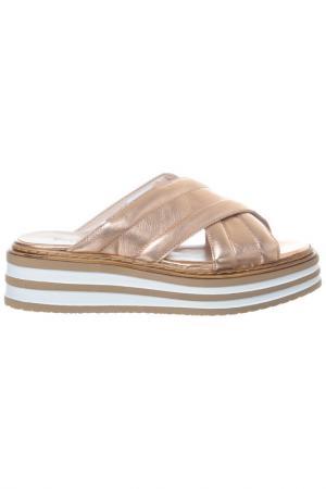 Flip flops FORMENTINI. Цвет: gold